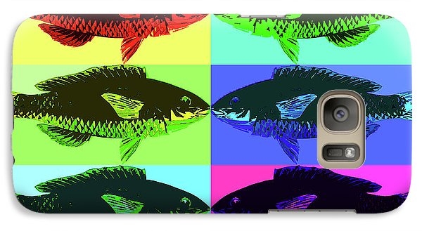 Galaxy S7 Case featuring the digital art Fish Dinner Pop Art by Nancy Merkle