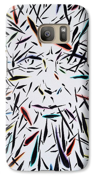 Galaxy Case featuring the painting Fish Face Aka Minnow Man by John Norman Stewart