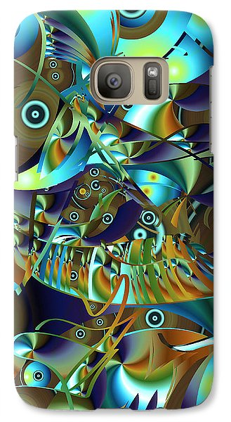 Galaxy Case featuring the digital art Fish Fiesta by Lynda Lehmann