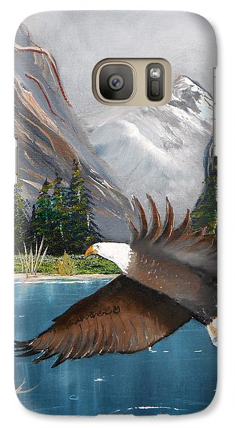 Galaxy Case featuring the painting Fish For Dinner by Al  Johannessen