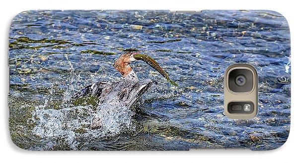 Galaxy Case featuring the photograph Fish Gulp by David Lawson