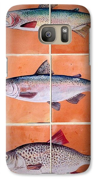Galaxy Case featuring the ceramic art Fish Mural by Andrew Drozdowicz