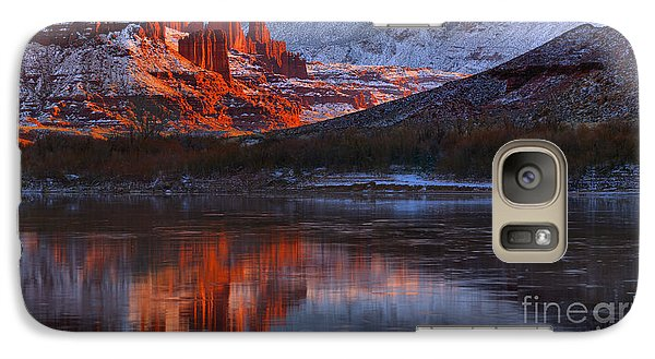 Galaxy Case featuring the photograph Fisher Towers And La Sal Mountains by Adam Jewell