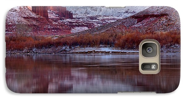 Galaxy Case featuring the photograph Fisher Towers Fading Sunset by Adam Jewell
