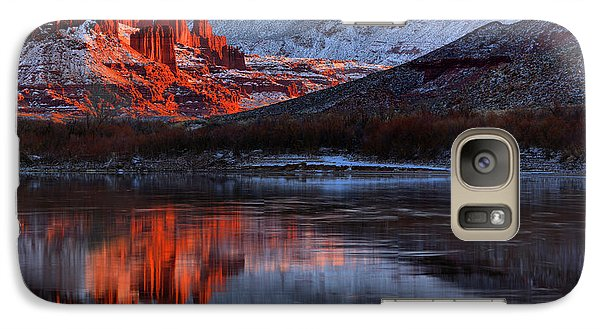 Galaxy Case featuring the photograph Fisher Towers Sunset On The Colorado by Adam Jewell