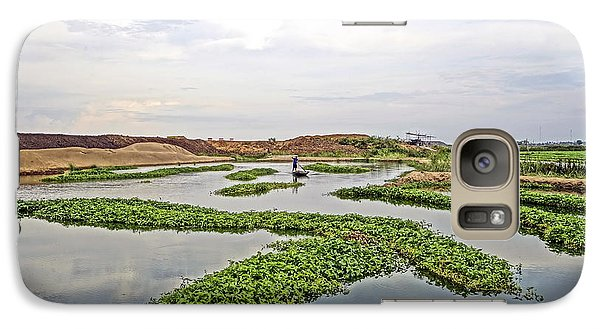 Galaxy Case featuring the photograph Fisherman  by Arik S Mintorogo