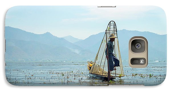 Burmese Python Galaxy S7 Case - Fisherman by Delphimages Photo Creations