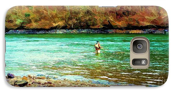 Galaxy Case featuring the photograph Fisherman Hot Springs Ar In Oil by Diana Mary Sharpton