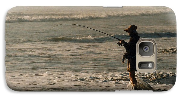 Galaxy Case featuring the photograph Fisherman by Steve Karol