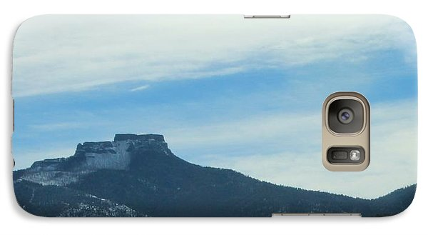 Galaxy Case featuring the photograph Fishers Peak Raton Mesa In Snow by Christopher Kirby