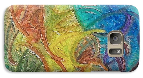 Galaxy Case featuring the mixed media Fishes by Dragica  Micki Fortuna
