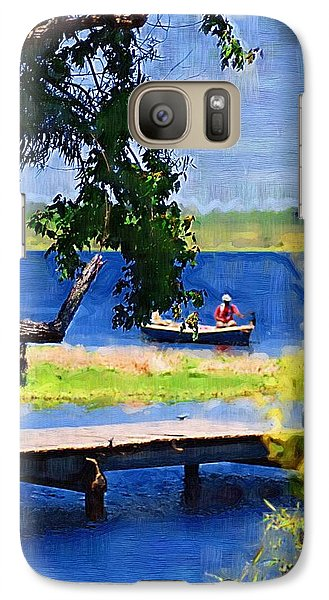 Galaxy Case featuring the photograph Fishin by Donna Bentley