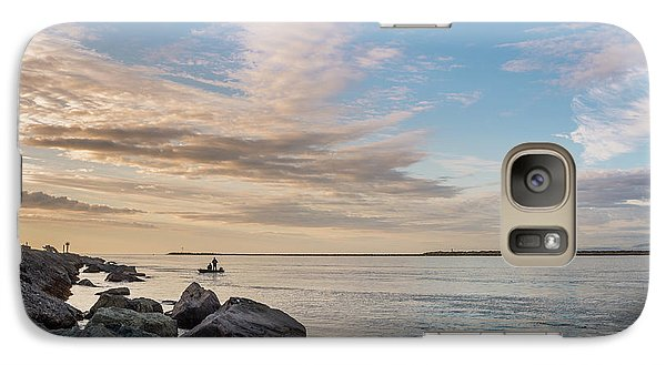 Galaxy Case featuring the photograph Fishing Along The South Jetty by Greg Nyquist