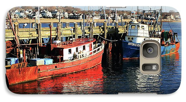 Galaxy Case featuring the photograph Fishing Boats At Provincetown Wharf by Roupen  Baker