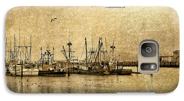 Galaxy Case featuring the photograph Fishing Boats Columbia River In Sepia by Susan Parish