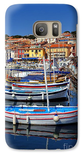 Galaxy Case featuring the photograph Fishing Boats In Cassis by Olivier Le Queinec