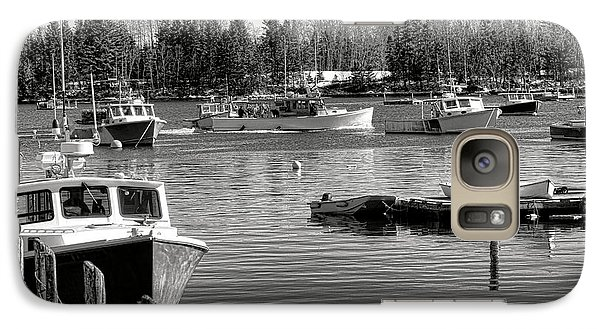 Galaxy Case featuring the photograph Fishing Boats In Friendship Harbor In Winter by Olivier Le Queinec