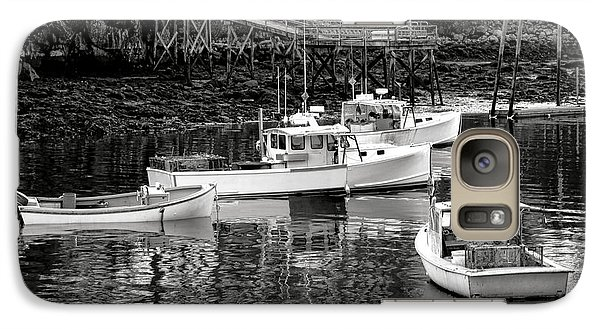 Galaxy Case featuring the photograph Fishing Boats In Maine Port by Olivier Le Queinec