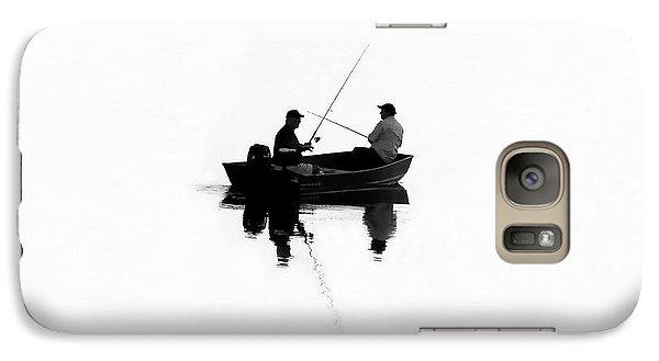Fishing Buddies Galaxy Case by David Lee Thompson