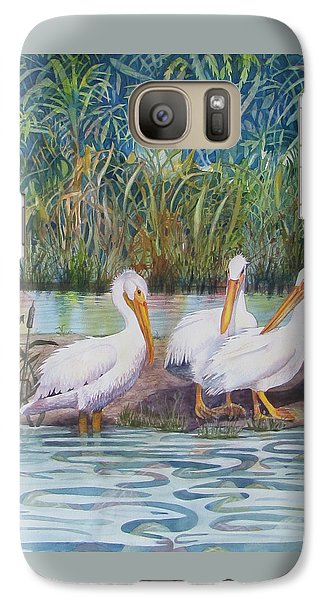 Galaxy Case featuring the painting Fishing Buddies by Martha Ayotte