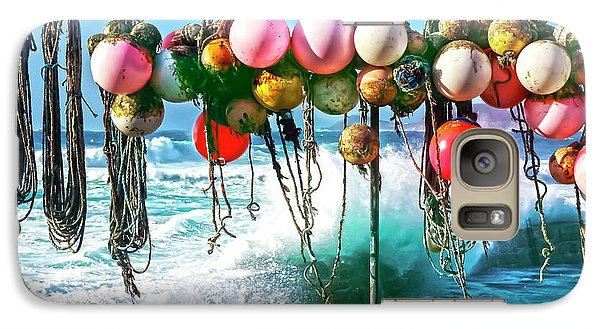 Galaxy Case featuring the photograph Fishing Buoys by Terri Waters