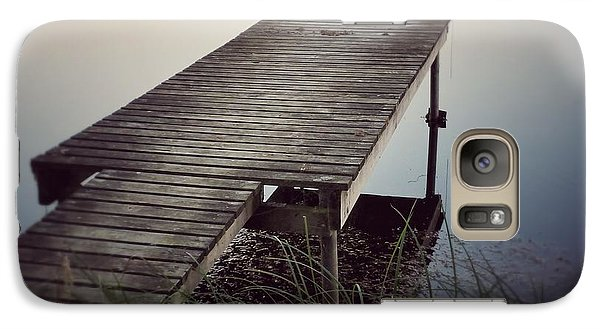 Galaxy Case featuring the photograph Fishing Dock by Karen Stahlros