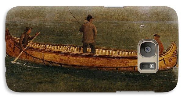 Fishing From A Canoe Galaxy Case by Albert Bierstadt