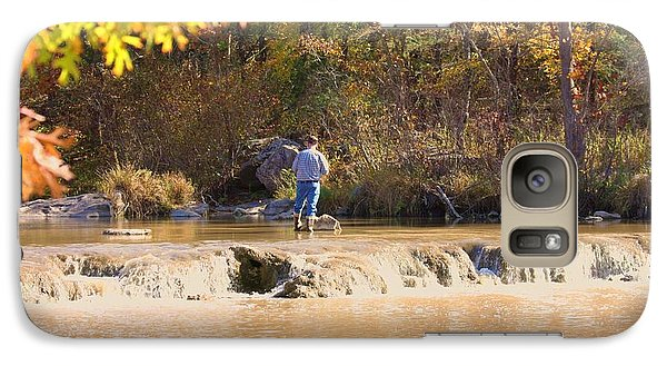 Galaxy Case featuring the photograph Fishing In Fall by Sheila Brown