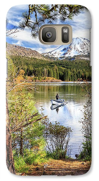 Galaxy Case featuring the photograph Fishing In Manzanita Lake by James Eddy