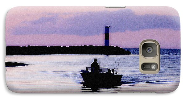 Galaxy Case featuring the photograph Fishing Lake Ontario  Lake Ontario  by Iconic Images Art Gallery David Pucciarelli