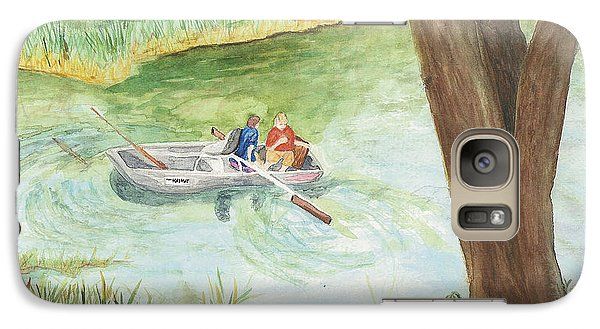 Galaxy Case featuring the painting Fishing Lake Tanko by Vicki  Housel