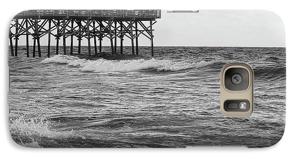 Galaxy Case featuring the photograph Fishing Off The Pier At Myrtle Beach by Chris Flees