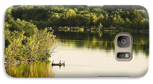 Galaxy Case featuring the photograph Fishing On Mountain Lake by Tamyra Ayles