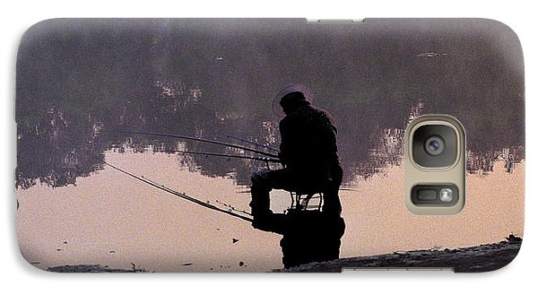 Galaxy Case featuring the photograph Fishing by R Thomas Berner