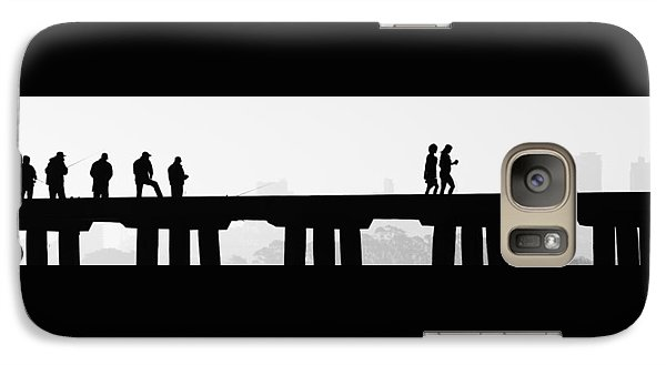 Galaxy Case featuring the photograph Fishing The San Francisco Skyline by Steve Siri