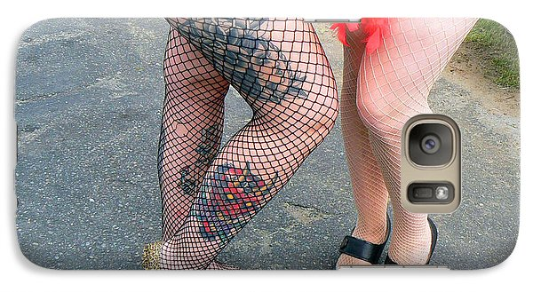 Galaxy Case featuring the photograph Fishnet And Tattoos by Pamela Patch