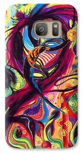 Galaxy Case featuring the painting Raven Masquerade by Marina Petro