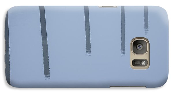 Galaxy Case featuring the photograph Five Poles And A Duck by Karol Livote
