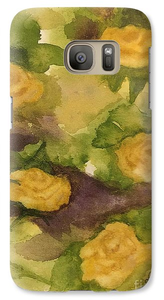 Galaxy Case featuring the painting Five Yellow Roses by Lucia Grilletto