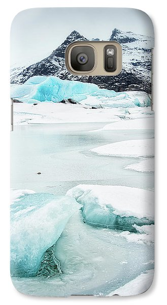 Galaxy Case featuring the photograph Fjallsarlon Glacier Lagoon Iceland In Winter by Matthias Hauser