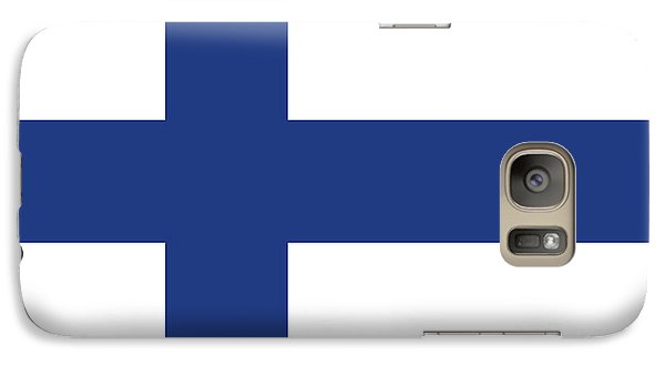 Galaxy Case featuring the digital art Flag Of Finland by Bruce Stanfield
