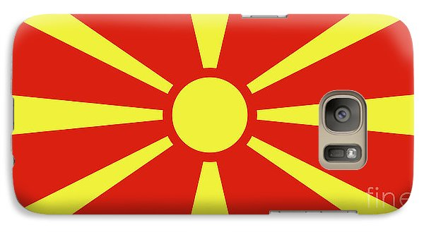 Galaxy Case featuring the digital art Flag Of Macedonia by Bruce Stanfield