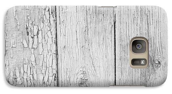 Galaxy Case featuring the photograph Flaking Grey Wood Paint by John Williams