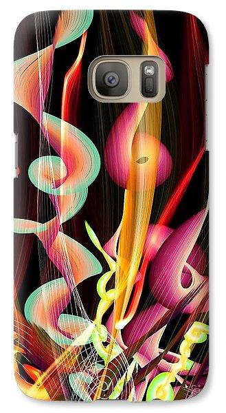 Galaxy Case featuring the digital art Flame By Nico Bielow by Nico Bielow