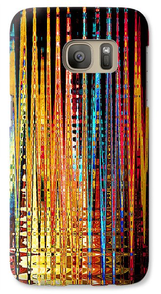 Galaxy Case featuring the digital art Flame Lines by Francesa Miller
