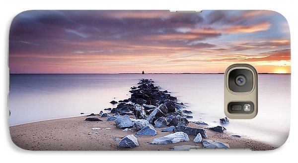 Galaxy Case featuring the photograph Flame On The Horizon by Edward Kreis