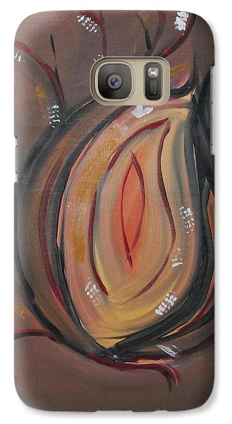 Galaxy Case featuring the painting Flame by Sharyn Winters