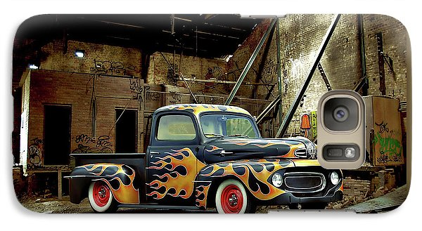 Galaxy Case featuring the photograph Flamed Pickup by Steven Agius