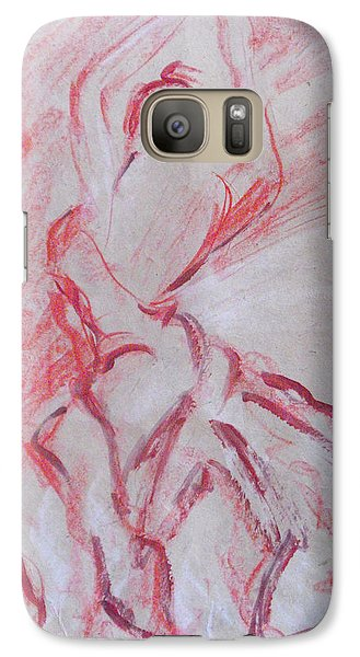 Galaxy Case featuring the painting Flamenco Dancer 1 by Koro Arandia