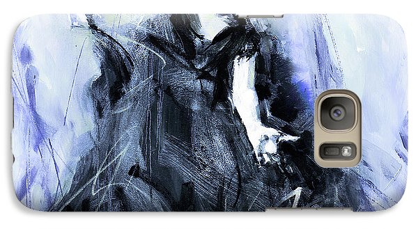 Galaxy Case featuring the painting Flamenco Dancer Art 45h by Gull G